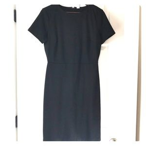Black Old Navy Ponte Knit Sheath Dress
